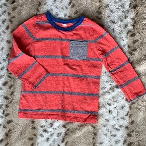 Old Navy Boys 2T Red & Blue Striped Long Shirt